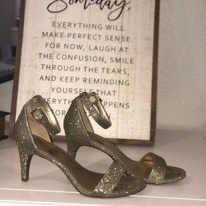 Aerosoles Sparkly Gold Strappy Heels